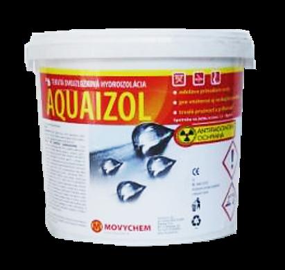 Dvojzložková tekutá hydroizolácia AQUAIZOL s antiradónovou ochranou.