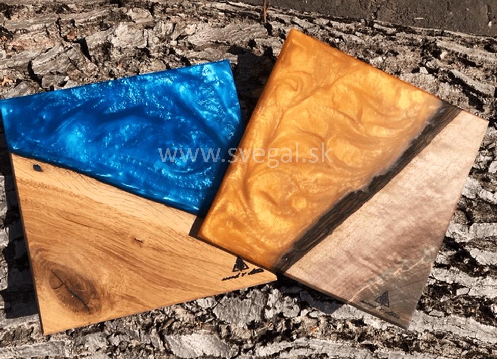 Číra zalievacia živica s metalickým pigmentom
