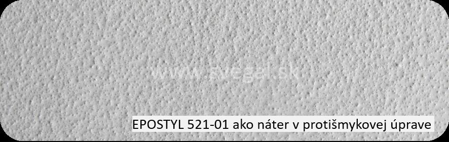 Epoxidová náterová hmota Epostyl 521-01 šedý ako náter v protišmykovej úprave. Použitý jemný kremenný piesok.