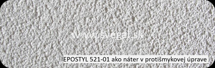 Epoxidová náterová hmota Epostyl 521-01 ako náter v protišmykovej úprave. Použitý hrubý kremičitý piesok.