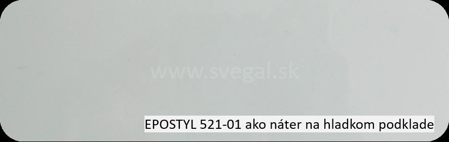 Epoxidový náter EPOSTYL 521-01 na hladkom povrchu. Vzorka náteru.