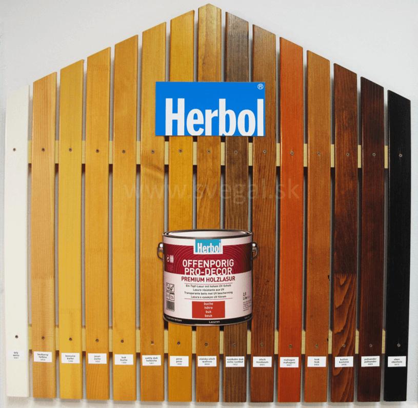Lazúry Herbol Offenporig Pro Décor vzorkovník