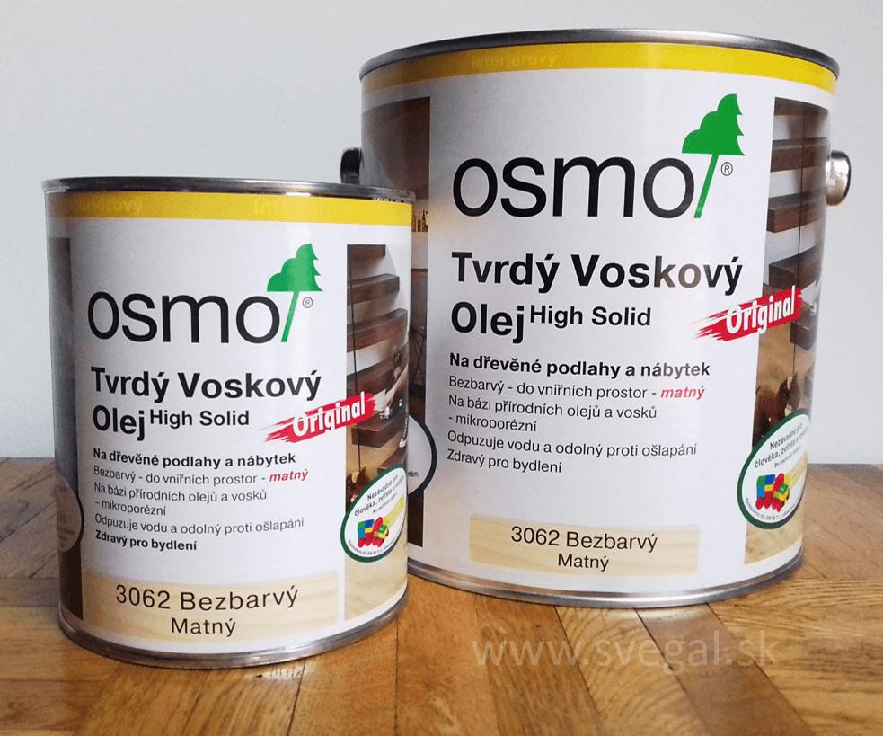 Zvrdý voskový olej OSMO na drevo