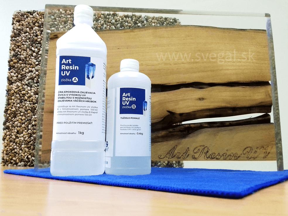 Zalievacia živica Art Resin UV pre zalievanie väčších hrúbok.