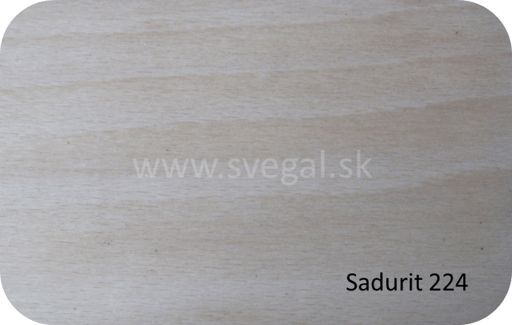 Epoxidový lak Sadurit 224 vzorka na dreve.