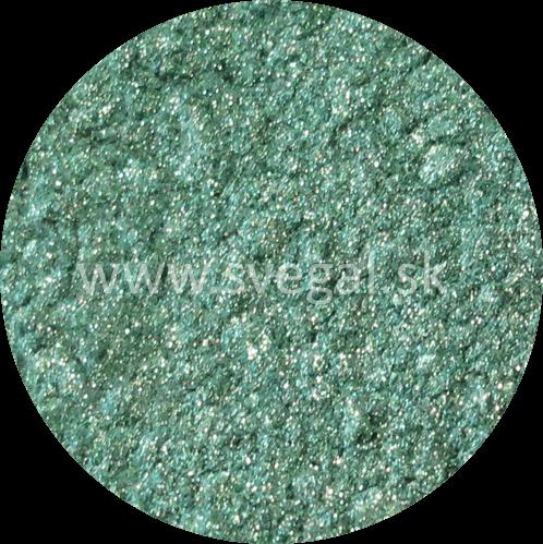 Metalický pigment Art Resin zelený, použiteľný na výrobu efektných metalických odliatkov.