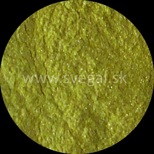 Metalický pigment Art Resin žltý, použiteľný na výrobu efektných metalických odliatkov.