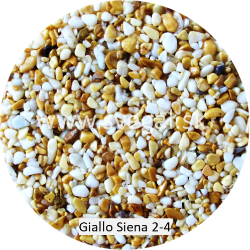 Giallo Siena 2/4, pre použitie v kameninových kobercoch.