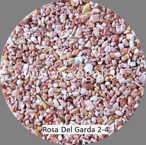 Rosa Del Garda veľkosti 2-4 mm, pre kamenné koberce.