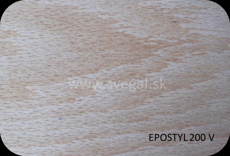 Epoxidový lak Epostyl 200 V vzorka na dreve
