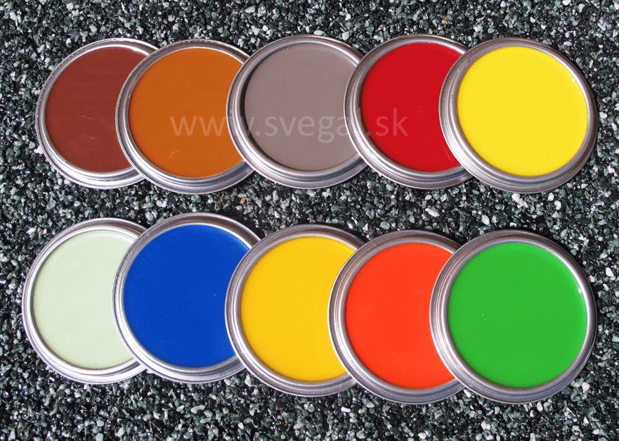 Farebné vzorky tónovaných liatych podláh - pigmentujeme podlahové stierky.