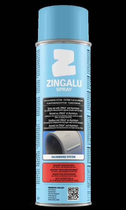 Zingaluspray, antikorózna ochrana s hliníkovým vzhľadom.