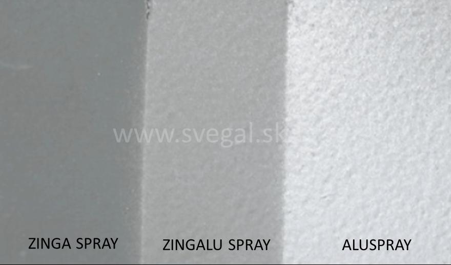 Porovnanie vzhľadu po aplikácii ZINGA sprayov.