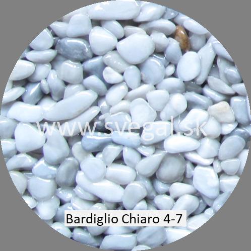 Mramorové kamenivo Bardiglio Chiaro veľkosti 4/7, pre kamenné koberce.