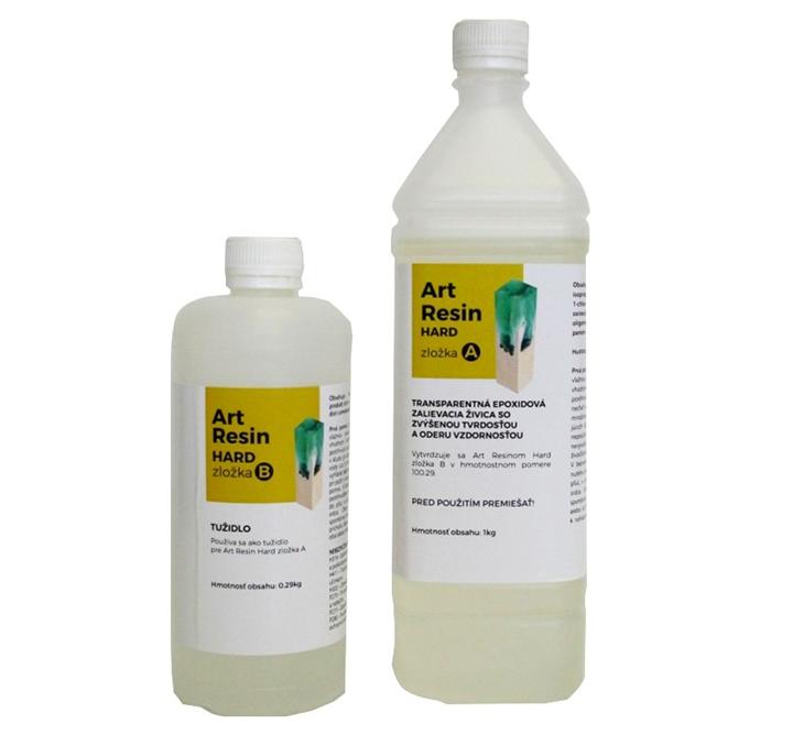 Art Resin Hard transparentná zalievacia živica so zvýšenou tvrdosťou a oteruvzdornosťou vhodná aj pre vyššie hrúbky odliatkov.