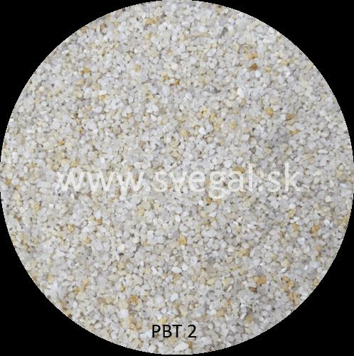 Kremenný sušený piesok PBT 2 zrnitostnej frakcie1 - 2 mm. Priemyselné, technické, sklárske, filtračné použitie.