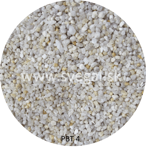 Kremičitý piesok PBT 4 frakcie 2 - 4 mm, pre technické, filtračné, sklárske, priemyselné, elektrotechnické použitie.