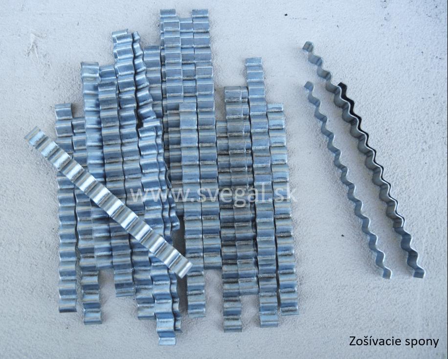 Zošívacie spony na spájanie betónových poterov.