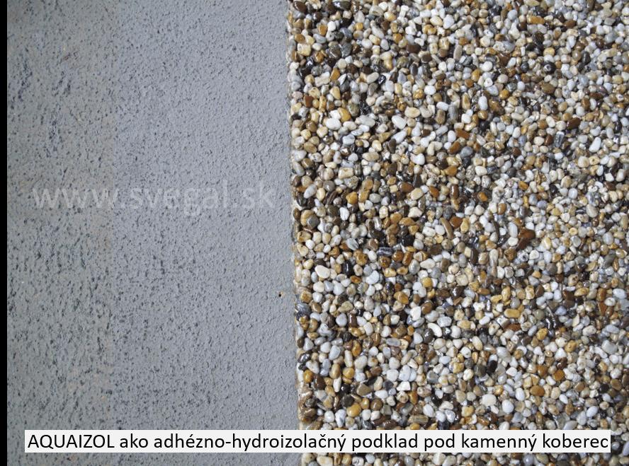 Tekutá hydroizolácia AQUAIZOL ako adhézny mostík a hydroizolácia na betónovom podklade.