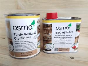 OSMO tvrdý voskový olej a OSMO top olej