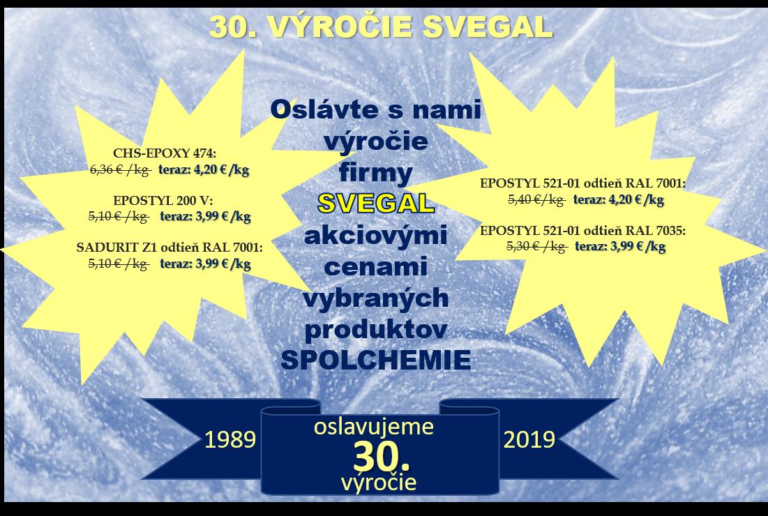 30. výročie Svegal - plagát