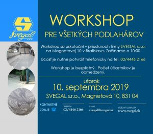 Svegal workshop podlahy