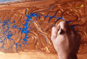 metalická podlaha - umelecká tvorba