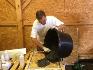 Aplikácia kamenného koberca workshop