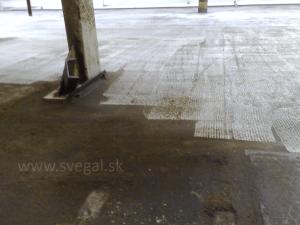 Povrch betónu po ofrézovaní